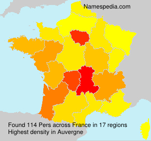Surname Pers in France