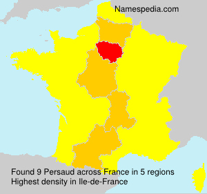 Surname Persaud in France