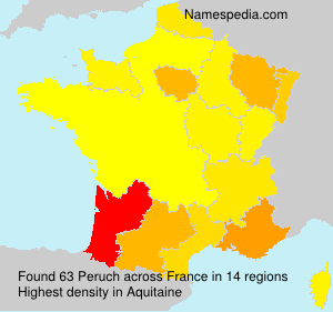 Surname Peruch in France