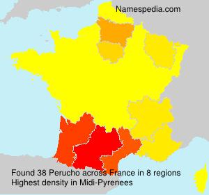 Familiennamen Perucho - France