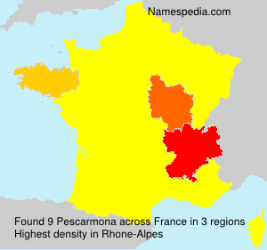 Surname Pescarmona in France