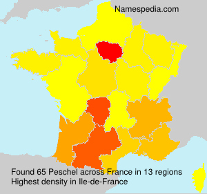 Surname Peschel in France