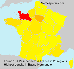 Surname Peschet in France