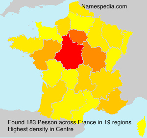Surname Pesson in France