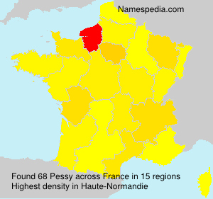 Surname Pessy in France