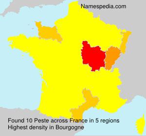 Surname Peste in France