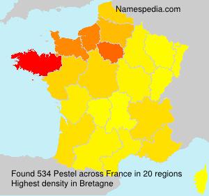 Surname Pestel in France
