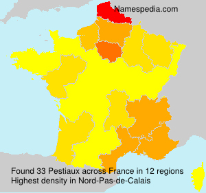 Surname Pestiaux in France