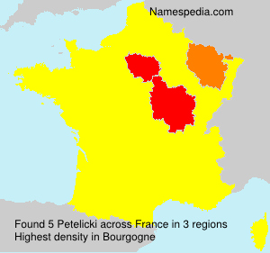 Surname Petelicki in France