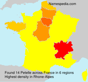 Surname Petelle in France