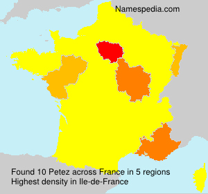 Surname Petez in France