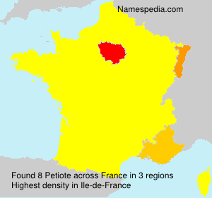 Surname Petiote in France