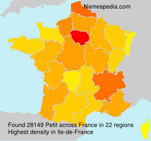Surname Petit in France