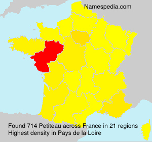 Surname Petiteau in France