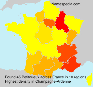 Surname Petitqueux in France