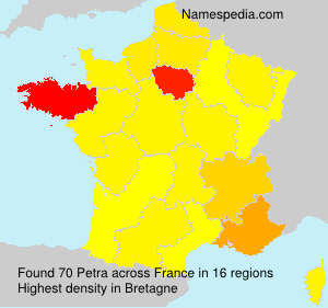 Familiennamen Petra - France