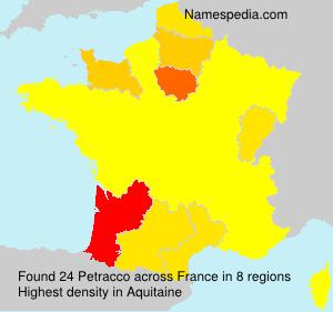 Familiennamen Petracco - France