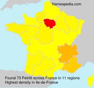 Familiennamen Petrilli - France