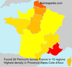 Surname Petrocchi in France