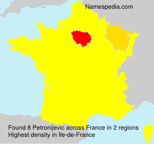 Surname Petronijevic in France