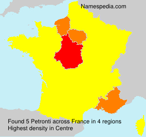 Surname Petronti in France