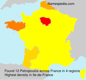 Surname Petropoulos in France