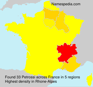 Surname Petrossi in France