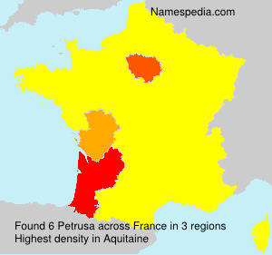 Surname Petrusa in France