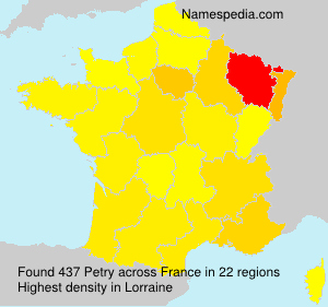 Surname Petry in France