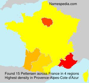 Surname Pettersen in France