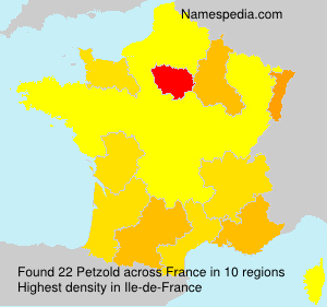 Surname Petzold in France