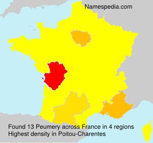 Familiennamen Peumery - France