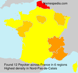 Surname Peycker in France