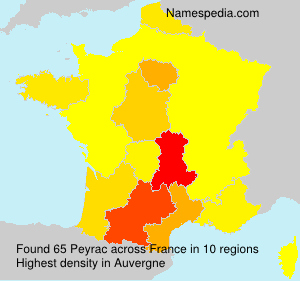 Surname Peyrac in France