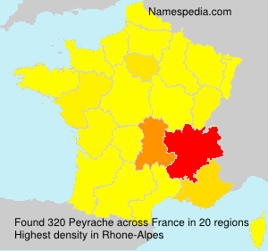 Surname Peyrache in France