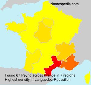 Surname Peyric in France