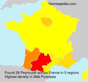 Surname Peyrouzet in France