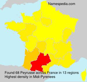 Surname Peyrusse in France