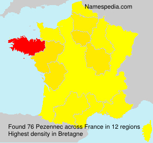 Surname Pezennec in France