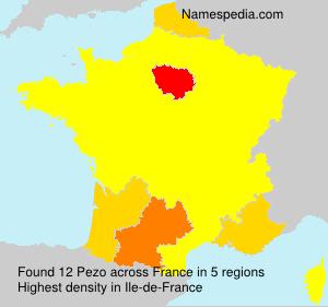 Surname Pezo in France