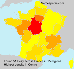 Surname Pezy in France
