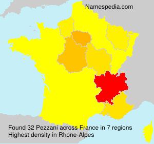 Surname Pezzani in France