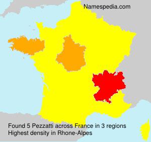 Surname Pezzatti in France