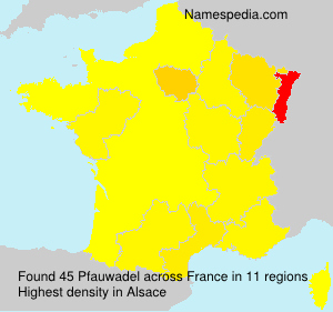 Surname Pfauwadel in France