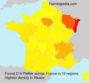 Surname Pfeffer in France