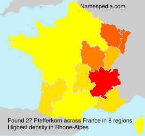 Surname Pfefferkorn in France