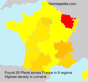 Familiennamen Pfend - France