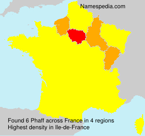 Surname Phaff in France
