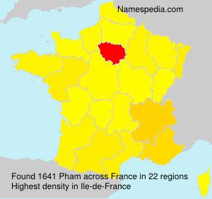 Familiennamen Pham - France
