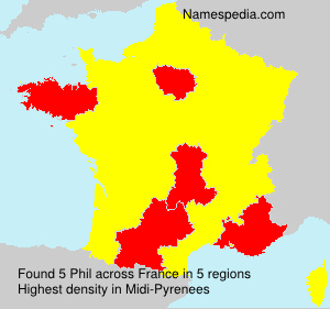 Surname Phil in France
